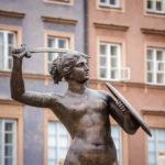 Denkmal der Meerjungfrau auf dem Altstadtmarkt in Warschau