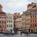 Historische Gebäude auf dem Altstadtmarkt in Warschau
