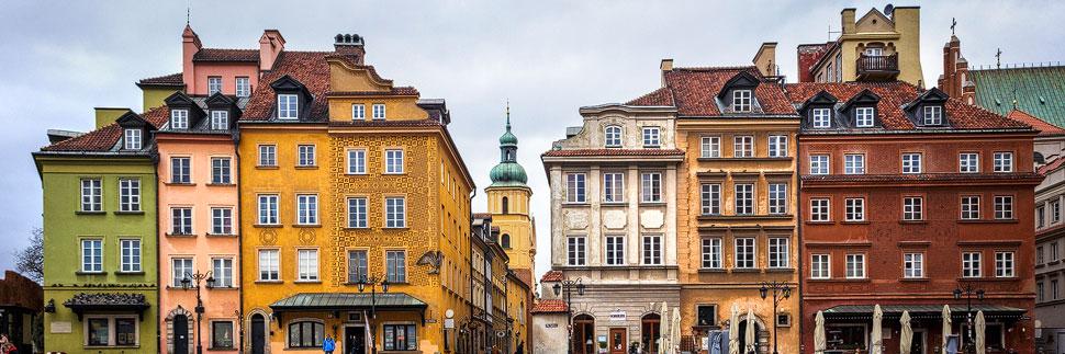 Historische Gebäude in der Altstadt von Warschau