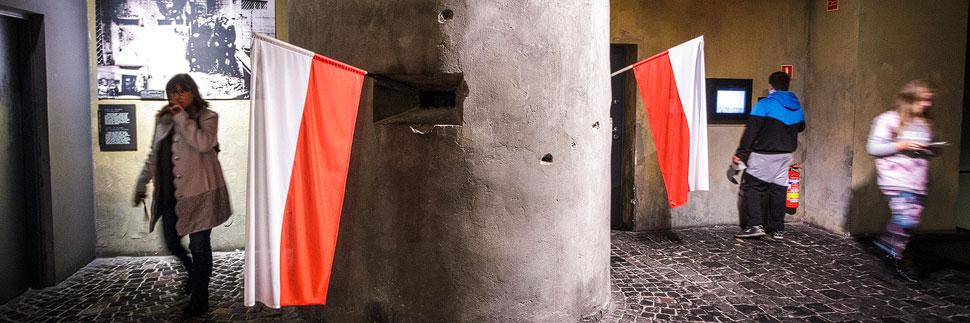 Ausstellungsstück im Museum des Warschauer Aufstandes