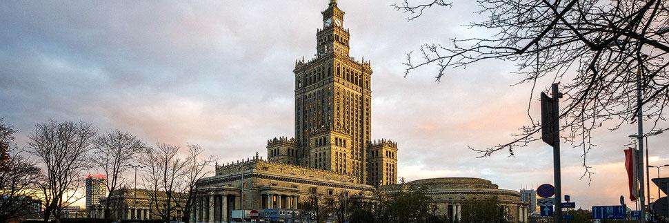 Der Kultur- und Wissenschaftspalast in Warschau