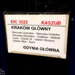 Anfahrt mit dem Zug von Kraków Główny nach Warszawa Centralna