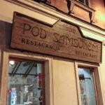 Außenansicht des Restaurant Pod Samsonem in Warschau