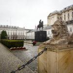 Außenansicht des Präsidentenpalasts von Warschau