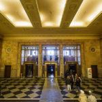 Innenansicht des Kultur- und Wissenschaftspalasts in Warschau