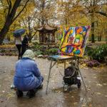 Chinesischer Pavillon im Garten der Bäder im Warschauer Łazienki-Park