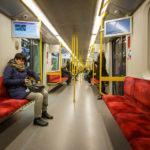Innenansicht der Warschauer Metro
