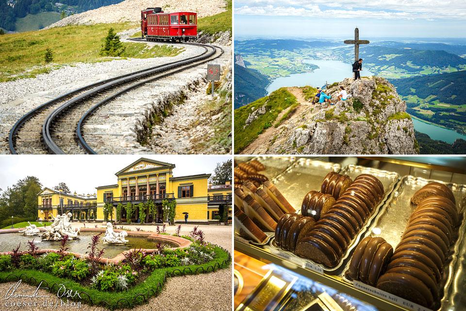 Fotos von der Schafbergbahn, Bad Ischl und St. Wolfgang