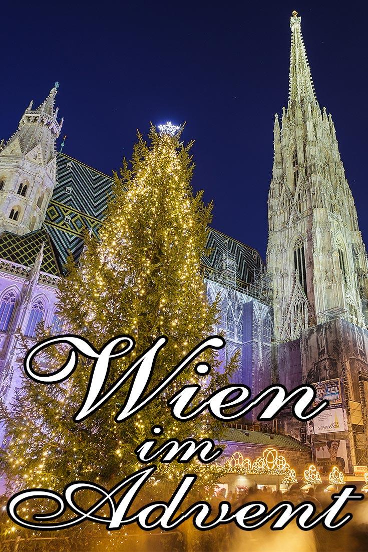 Fotos von Wien (Österreich) im Advent mit den schönsten Weihnachtsbeleuchtungen.