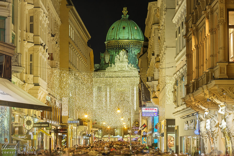 Weihnachtsbeleuchtung auf dem Wiener Kohlmarkt