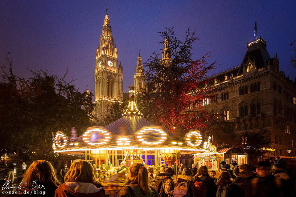 Weihnachtsmarkt vor dem Wiener Rathaus