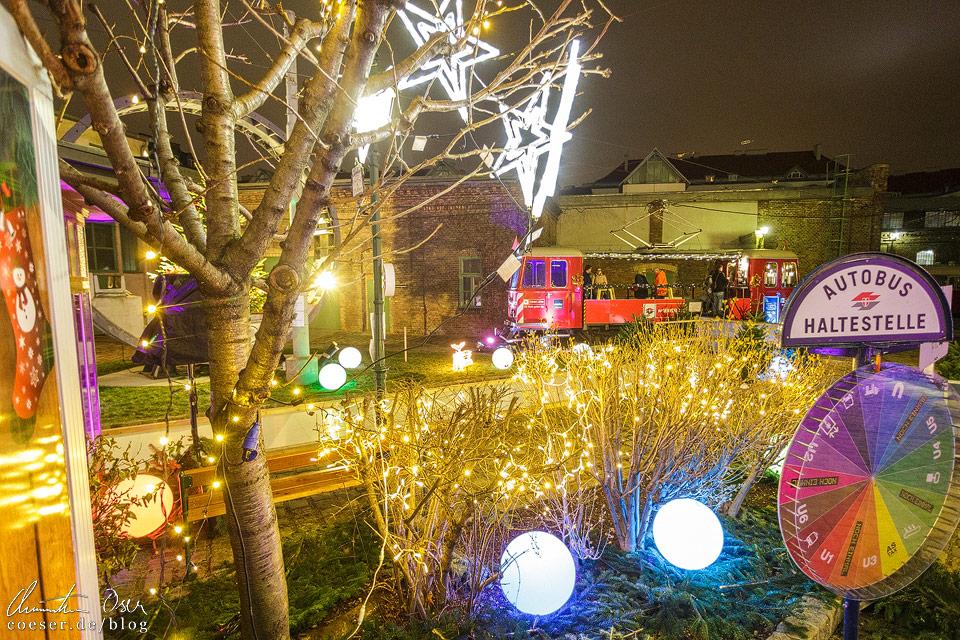 Weihnachtsmarkt vor dem Wiener Verkehrsmuseum