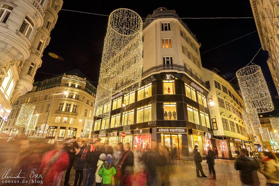 Weihnachtsbeleuchtung auf der Wiener Tuchlauben