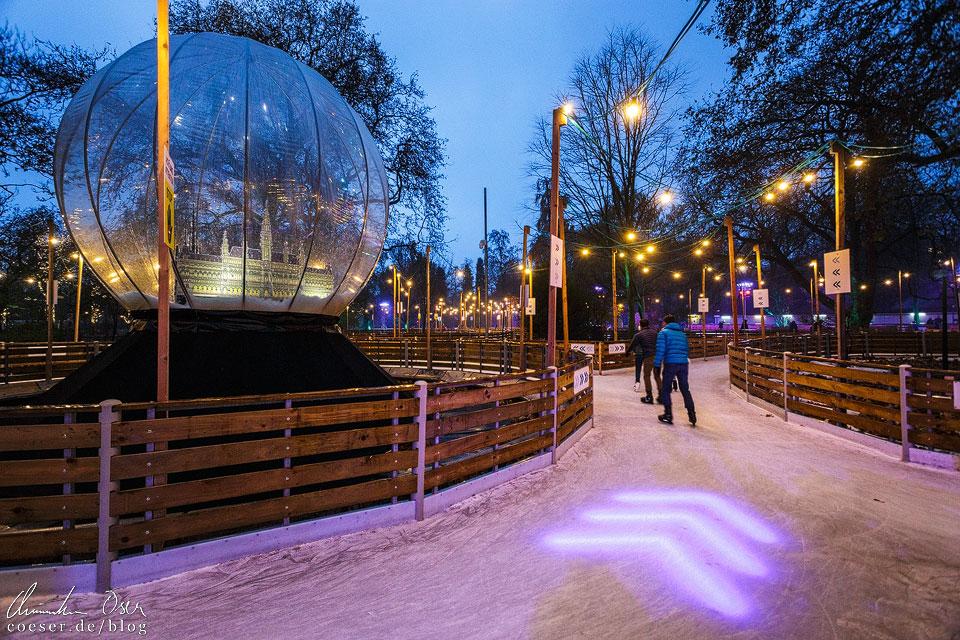 Der Wiener Eistraum wurde mit dem Christkindlmarkt zum Wiener Weihnachtstraum kombiniert