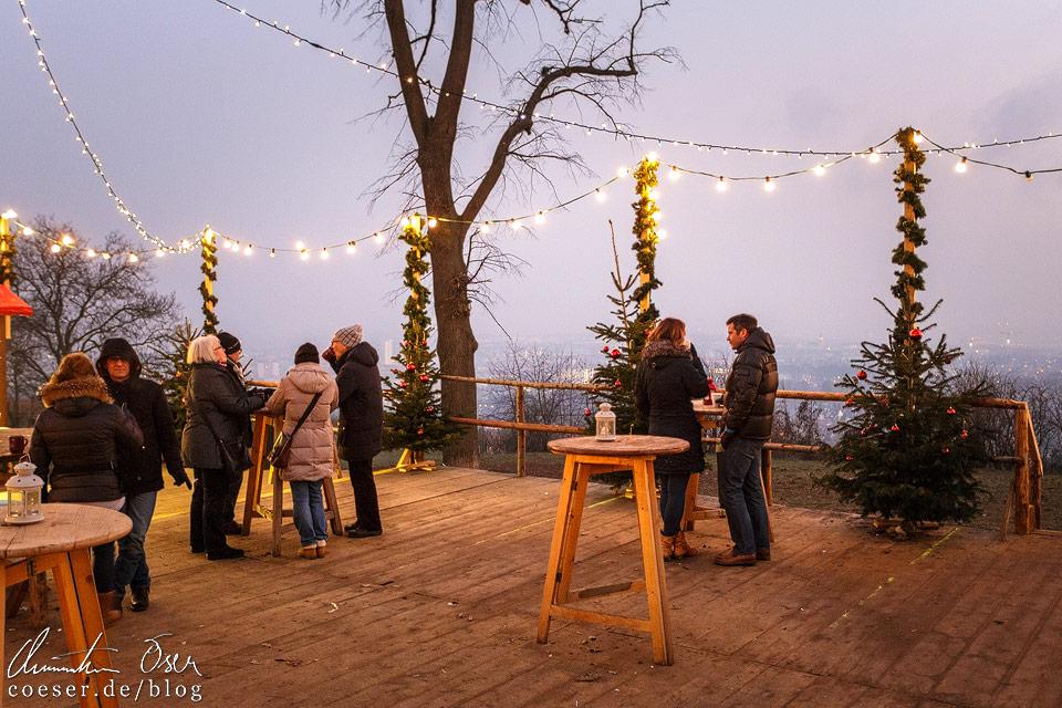 Punsch und Glühwein trinken mit Blick auf Wien, das geht nur auf dem Wilhelminenberg