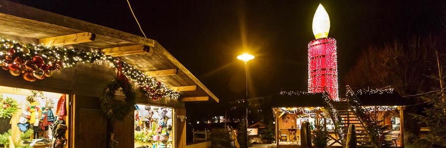 Kerze am Adventmarkt in St. Gilgen