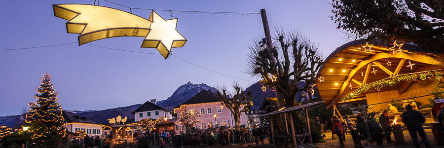 Sternschweif am Adventmarkt in Strobl