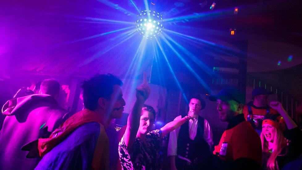 Party während des Kölner Karnevals