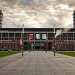 Außenansicht des Rheinenergiestadions, Heimstätte des 1. FC Köln