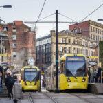 Die Straßenbahn trägt in Manchester den Namen Metrolink