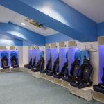 Kabinenbereich von Manchester City im Etihad Stadium