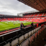 Die Tribüne The Stretford End im Stadion Old Trafford