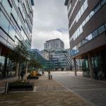 Moderne Gebäude im Viertel Salford Quays
