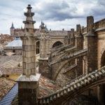 Blick vom Kloster auf das Dach der Catedral Primada (Kathedrale von Toledo)