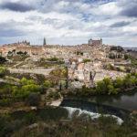 Panoramablick auf die Altstadt von Toledo, gesehen vom Aussichtspunkt Mirador del Valle
