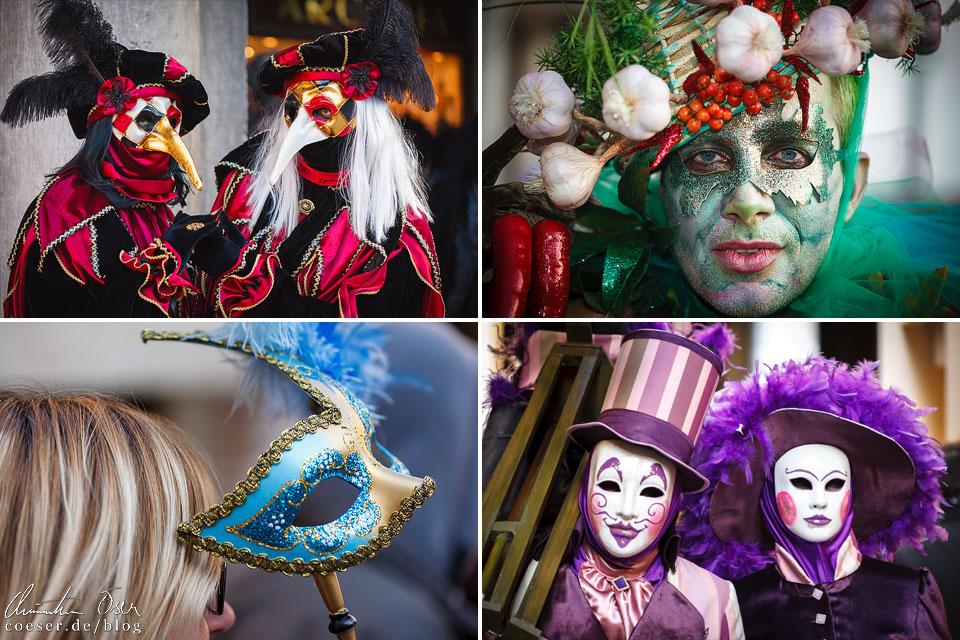 Masken und Kostüme während des Karneval von Venedig