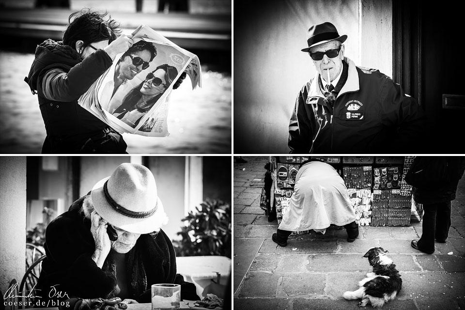 Freunde der Street Photography kommen in Venedig garantiert auf ihre Kosten. Die Einwohner geben bei der Auslebung ihres Alltags unfassbar eindrucksvolle Motive ab.