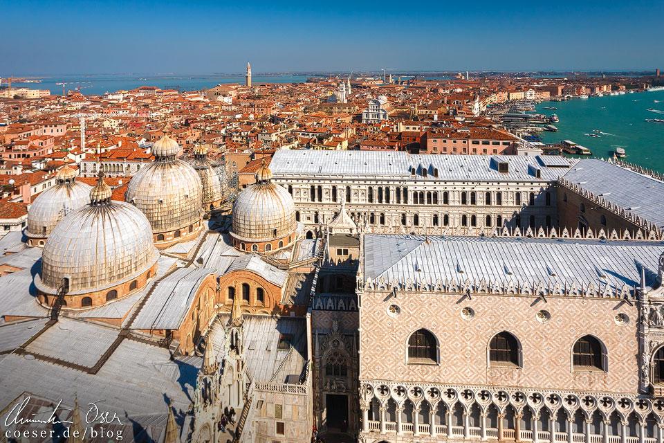 Panorama von Venedig während des Karneval von Venedig