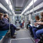 Innenansicht der Bostoner Straßenbahn