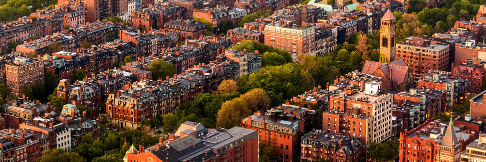 Blick auf das Viertel Beacon Hill in Boston