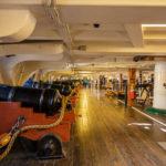 Innenraum der Fregatte USS Constitution, das älteste noch schwimmende Kriegsschiff der Welt