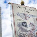 Das Schild zeigt das Ende des Freedom Trail an