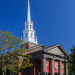 Die Memorial Church auf dem Campus der Harvard University
