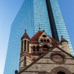 Die Trinity Church und der John Hancock Tower