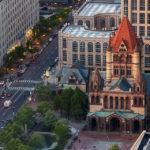 Blick vom Prudential Tower auf die Trinity Church