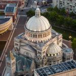 Blick vom Prudential Tower auf die Kirche The First Church of Christ, Scientist