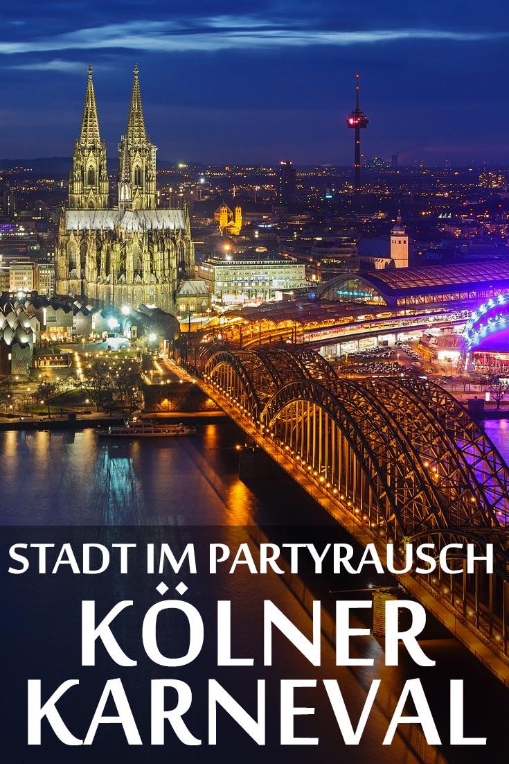 Kölner Karneval: Reisebericht und Infos zu den wichtigsten Sehenswürdigkeiten Kölns wie dem Kölner Dom, Hohenzollernbrücke und Kranhäuser im Rheinauhafen.