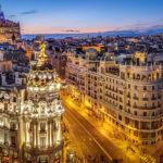 Aussicht auf Madrid von der Dachterrase des Círculo de Bellas Artes