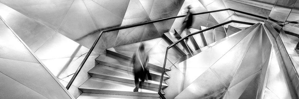 Treppe im Museum CaixaForum in Madrid
