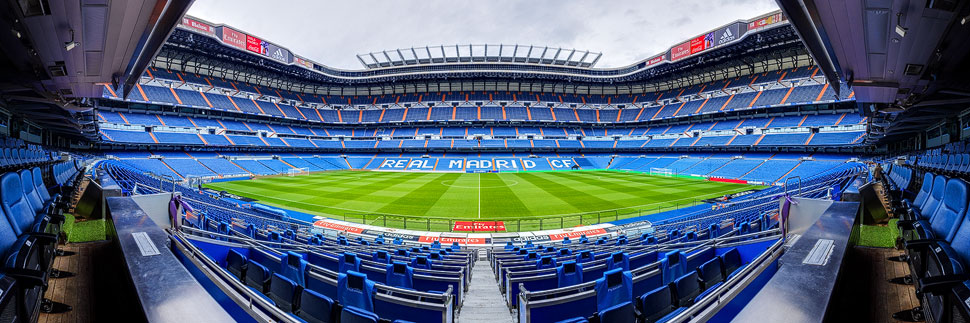 Das Estadio Santiago Bernabéu in Madrid