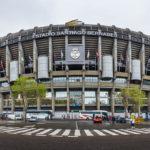 Außenansicht des Estadio Santiago Bernabéu in Madrid