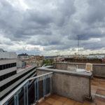 Terrasse meines Doppelzimmers im Hotel Mercure Madrid Plaza de Espana
