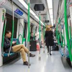 Innenansicht der Madrider Metro