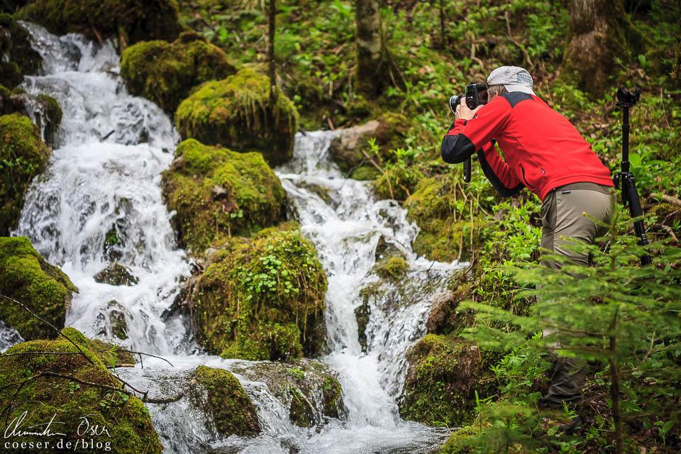 Fotograf Andreas Resch bei der Kläfferquelle in Wildalpen, Österreich
