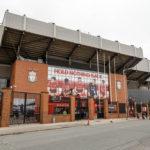 Außenansicht des Stadions Anfield des FC Liverpool