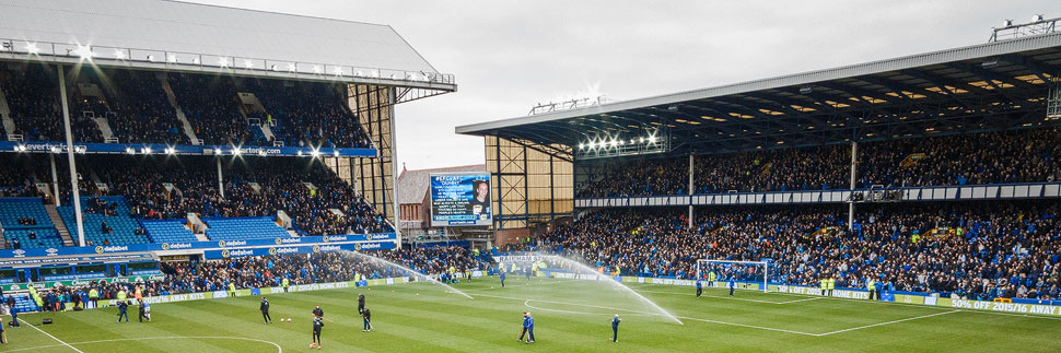 Goodison Park Stadium von Everton, Liverpool